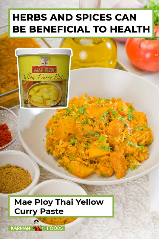 a tub of Mae Ploy Thai Yellow Curry Paste