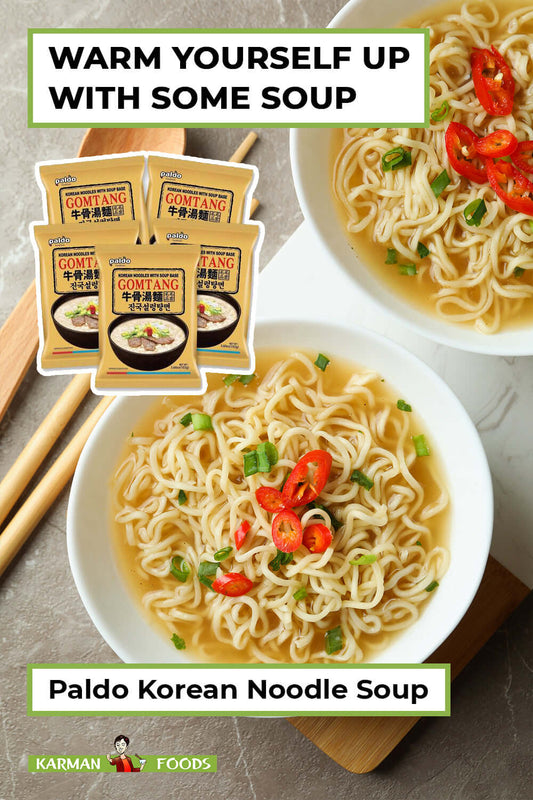 5 packs of Paldo Fun & Yum Gomtang Orient Style Noodles with Beef soup base