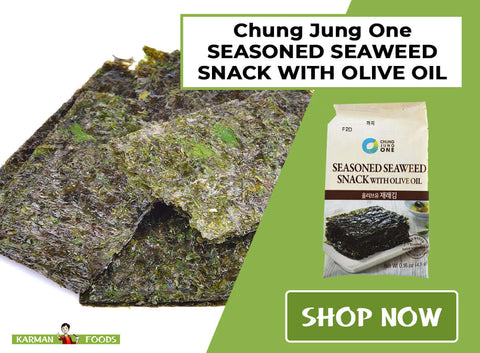 Chung Jung One Seasoned Seaweed Snack with Olive Oil