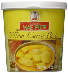 a tub of Mae Ploy yellow curry paste