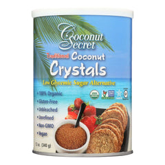 340 g container of Coconut secret traditional coconut crystals