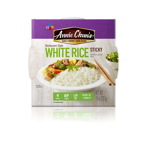 Annie Chun's Rice Express White Sticky Rice - Pack of 6 - 7.4 oz.