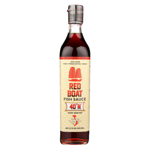 Red Boat Fish Sauce's Primary Ingredient - Case of 12 - 17 oz.