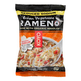 Koyo Reduced Sodium Asian Vegetable Ramen - Pack of 12 - 2.1 oz.