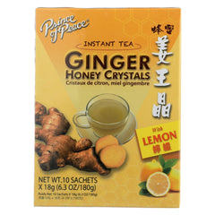 A pack of Prince Of Peace Instant Tea Ginger Honey Crystals with Lemon