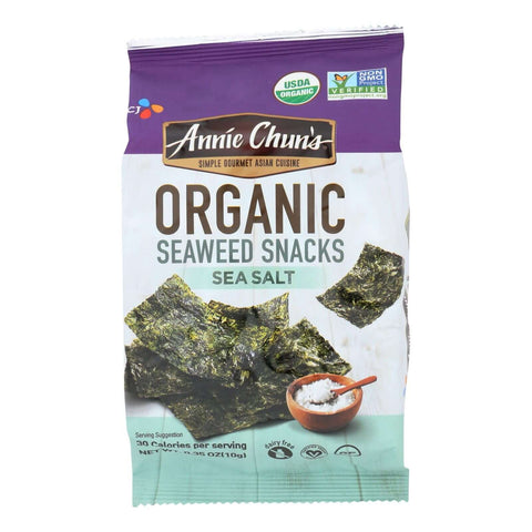 Annie Chun's Sea Salt Seaweed Snack - Pack of 12 - .35 oz.