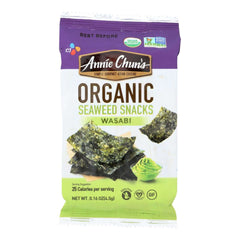 A pack of Annie Chun's Wasabi Seaweed Snack