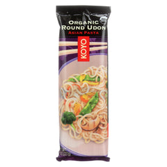 a pack of Koyo organic round udon asian pasta
