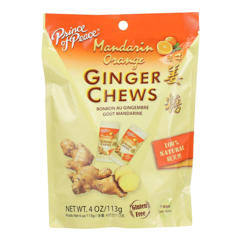 Prince of Peace Orange Ginger Chews - 4 oz.