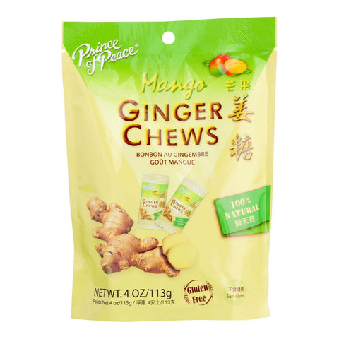 Prince of Peace Ginger Mango Chews - 4 oz.