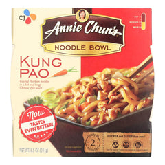 A pack of Annie Chun's Kung Pao Noodle Bowl