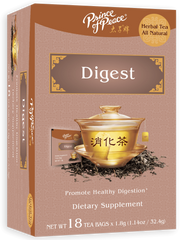 A box of Prince of Peace heathy tea for digestion