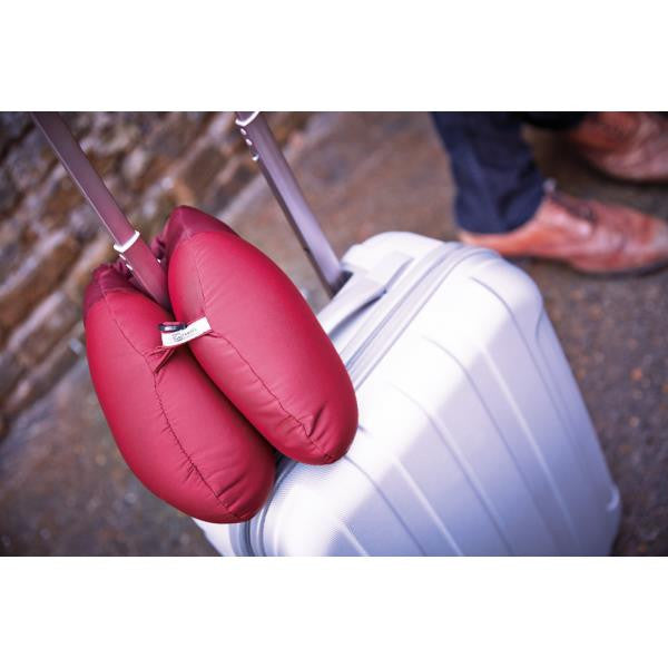 Go Travel Bean Snoozer | Travel Pillow: Dark Red [Bead Filled] - Jetsettr.com.au - 3