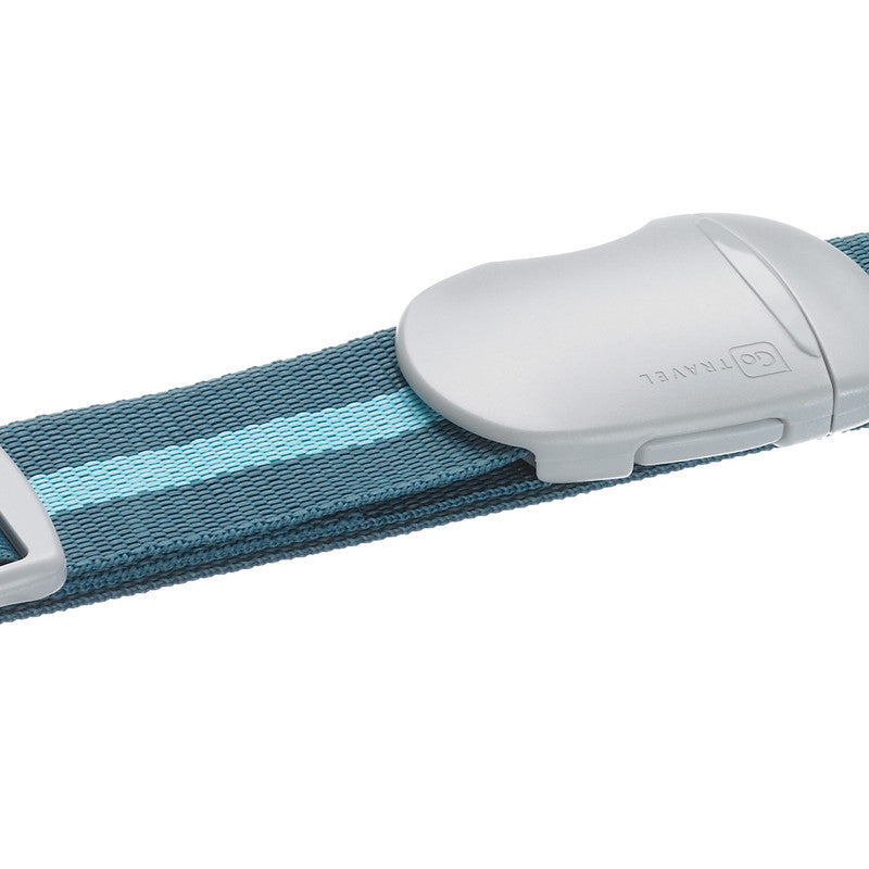 Go Travel Luggage Strap: Striped Blue - Jetsettr.com.au - 1