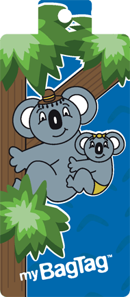 My Bag Tag Luggage Tag: KOALA & JOEY [2pk] - Jetsettr.com.au