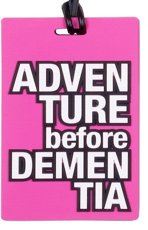 AT Travel Senior Moments Luggage Tag: Adventure Before Dementia - Jetsettr.com.au - 1
