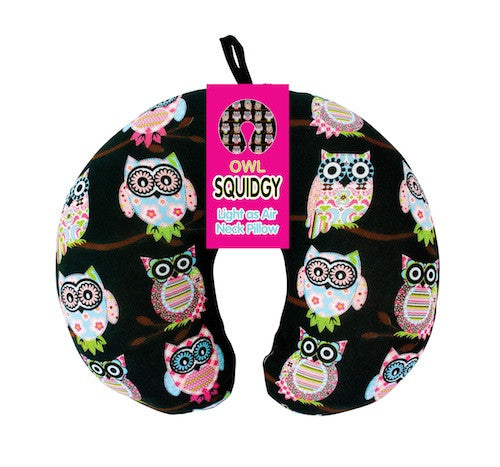 Annabel Trends Travel Pillow: Owl [Bead Filled] - Jetsettr.com.au