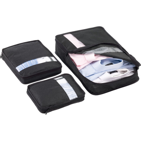 Go Travel Bag Packers: Black (Set of 3) - Jetsettr.com.au - 1