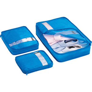 Go Travel Bag Packers: Blue (Set of 3) - Jetsettr.com.au - 1
