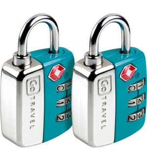 Go Travel Twin Travel Sentry TSA Locks [2pk] - Jetsettr.com.au - 1