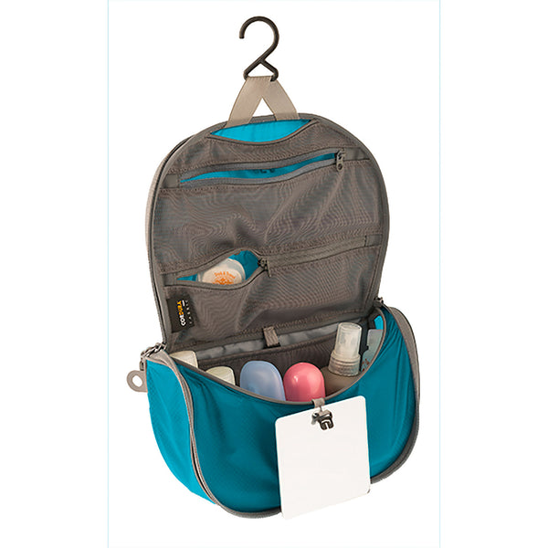 Sea To Summit TravellingLight Hanging Toiletry Bag SMALL: Blue/Grey - Jetsettr.com.au - 1