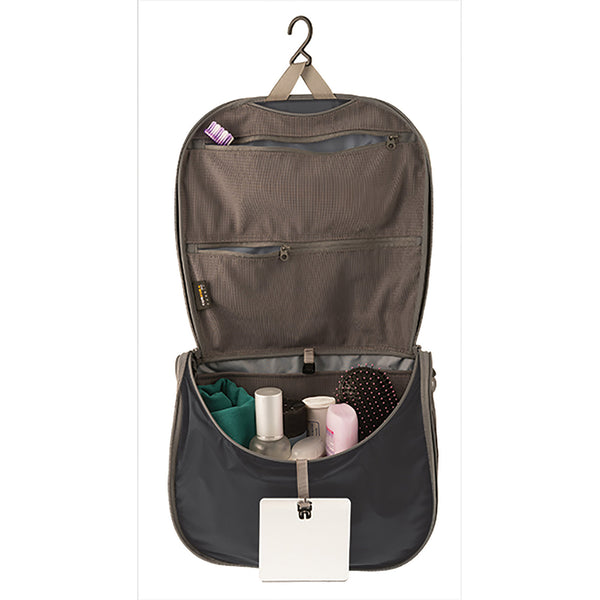 Sea To Summit TravellingLight Hanging Toiletry Bag SMALL: Black/Grey - Jetsettr.com.au - 2
