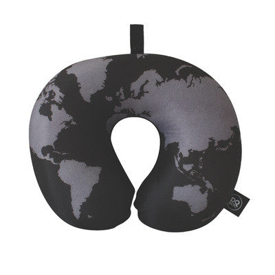 DQ & Co. World Map Travel Pillow [Bead Filled] - Jetsettr.com.au - 1