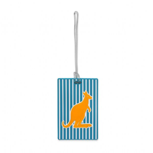 DQ & Co. Spots & Stripes Luggage Tag: Kangaroo - Jetsettr.com.au