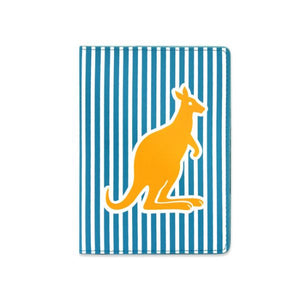 DQ & Co. Spots & Stripes Passport Cover: Kangaroo - Jetsettr.com.au