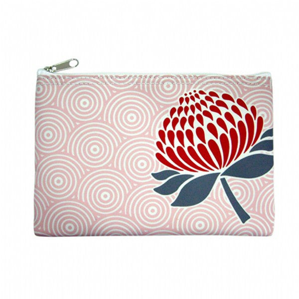 DQ & Co. Nature-Inspired Pouch: Waratah - Jetsettr.com.au