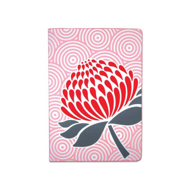 DQ & Co. Nature-Inspired Passport Cover: Waratah - Jetsettr.com.au