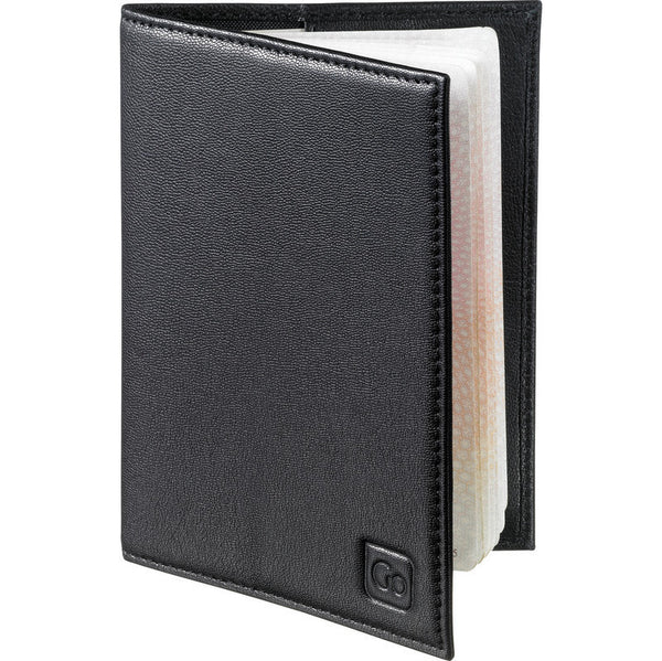 Go Travel RFID Anti-Theft Leather Passport Cover: Black - Jetsettr.com.au - 2