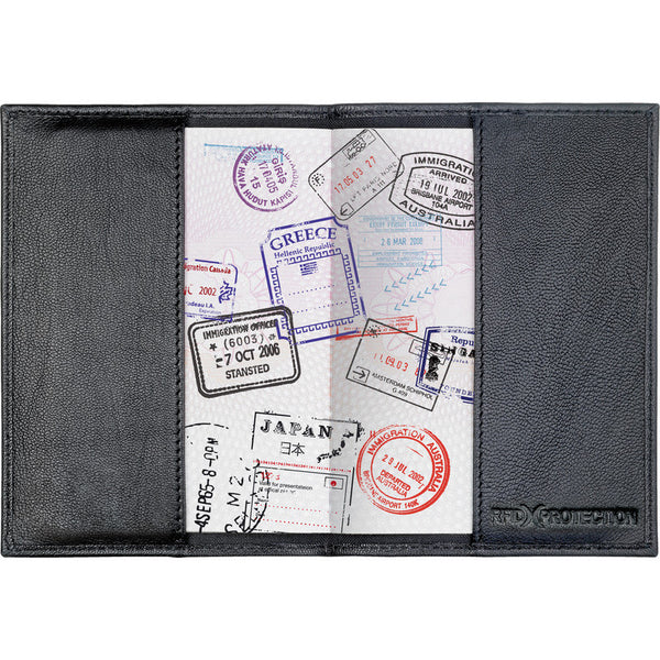 Go Travel RFID Anti-Theft Leather Passport Cover: Black - Jetsettr.com.au - 3