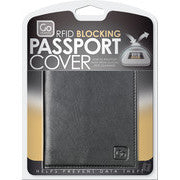 Go Travel RFID Anti-Theft Leather Passport Cover: Black - Jetsettr.com.au - 1