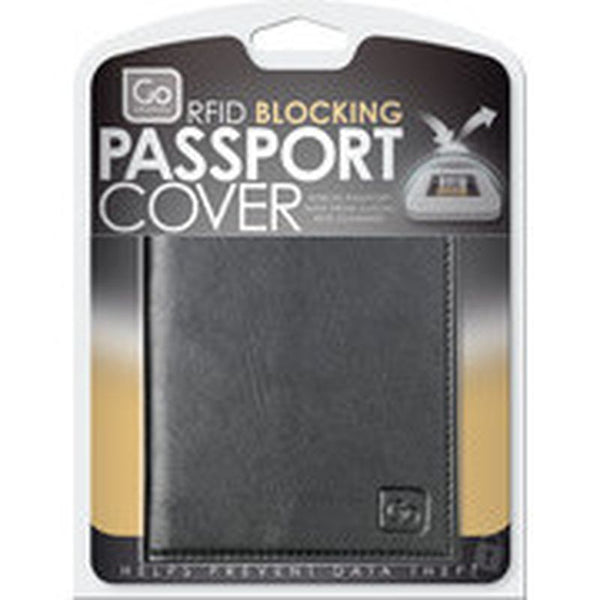 Go Travel RFID Anti-Theft Leather Passport Cover: Black - Jetsettr.com.au - 4