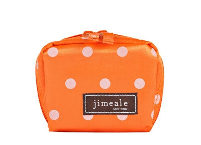 Jimeale New York 700 Mini Case: Orange & White Polka Dots - Jetsettr.com.au - 1
