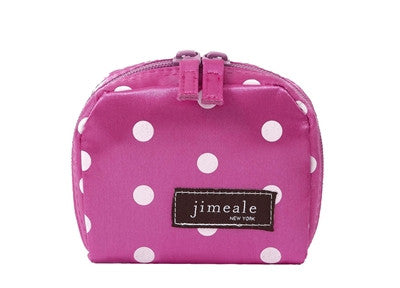 Jimeale New York 700 Mini Case: Pink & White Polka Dots - Jetsettr.com.au