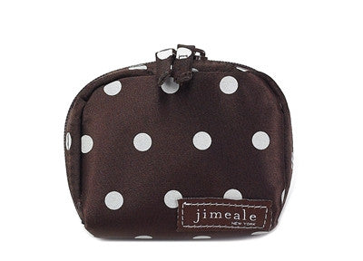 Jimeale New York 700 Mini Case: Chocolate & White Polka Dots - Jetsettr.com.au