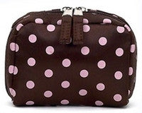 Jimeale New York 700 Mini Case: Chocolate & Pink Polka Dots - Jetsettr.com.au