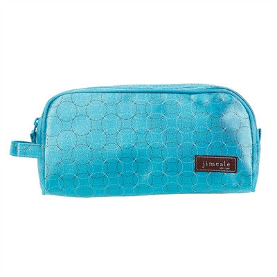 Jimeale New York 702 Toiletry Bag: Blue Circles - Jetsettr.com.au