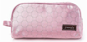 Jimeale New York 702 Toiletry Bag: Pink Circles - Jetsettr.com.au - 1