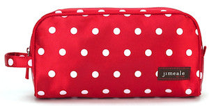 Jimeale New York 702 Toiletry Bag: Red & White Polka Dots - Jetsettr.com.au - 1