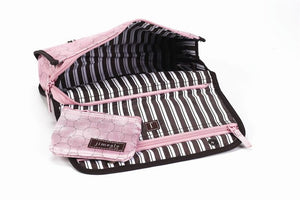 Jimeale New York 703 Toiletry Bag: Pink & White Polka Dots - Jetsettr.com.au - 2