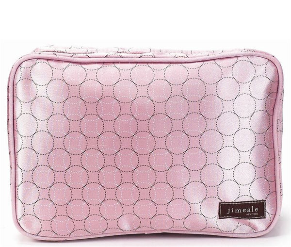 Jimeale New York 705 Toiletry Bag: Pink Circles - Jetsettr.com.au - 1