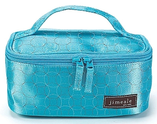 Jimeale New York 706 Cosmetic Bag: Blue Circles - Jetsettr.com.au - 2