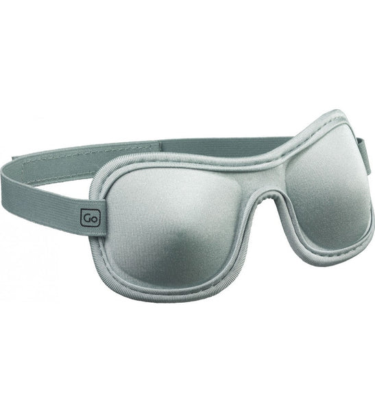 Go Travel Sleep Shade | Contoured Sleep Mask: Silver - Jetsettr.com.au - 1