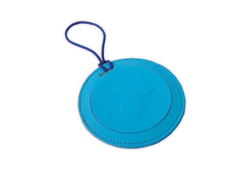 Corban & Blair Zoo Children's Leather Luggage Tag: Blue Turtle - Jetsettr.com.au - 1