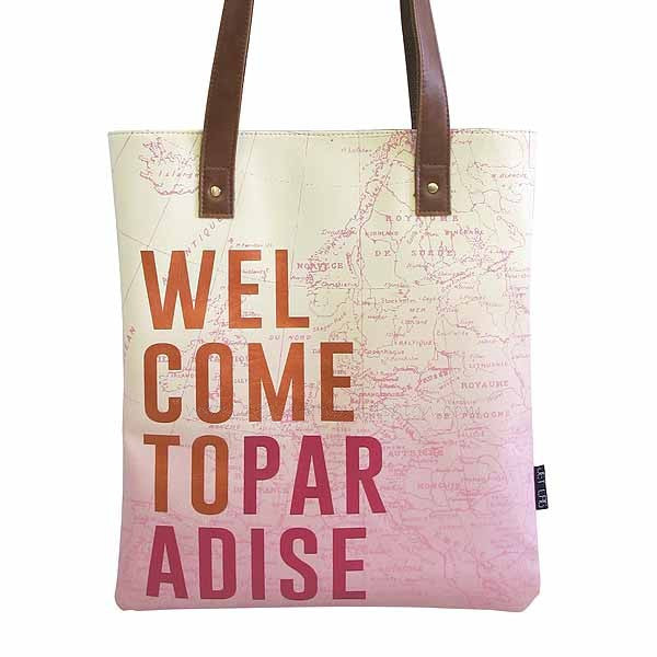 Disaster Designs Jet Lag Tote Bag: Welcome To Paradise - Jetsettr.com.au - 1