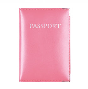 MC Travel LEATHER Passport Cover: Hot Pink - Jetsettr.com.au