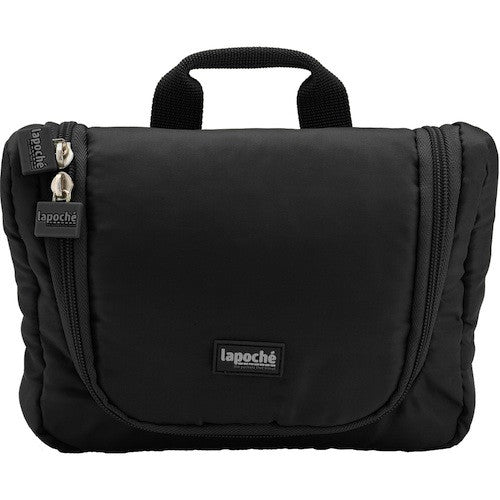La Poche Travel Toiletry Organiser Bag | Black - Jetsettr.com.au - 1